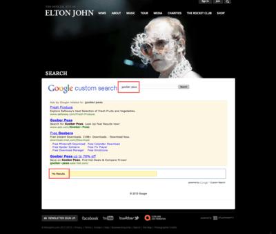 Elton John, Goober Peas?