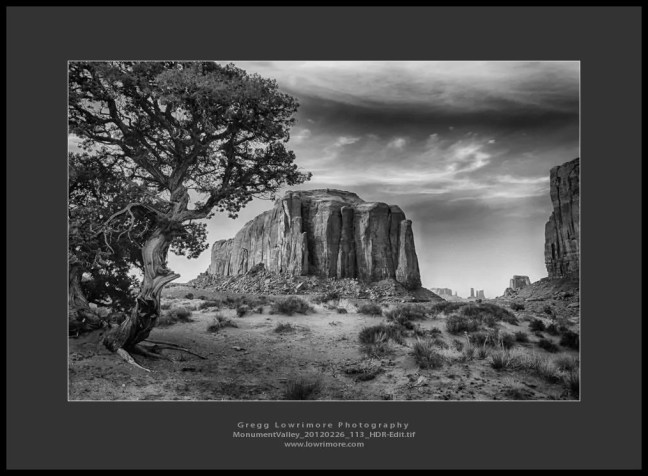 MonumentValley 20120226 113 HDR Edit Day 3 of 5   Black and White Challenge