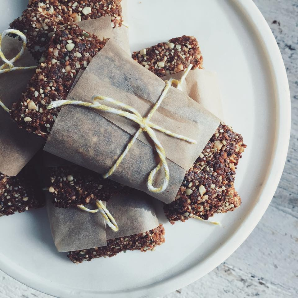 Crunchy banana buckwheat bars