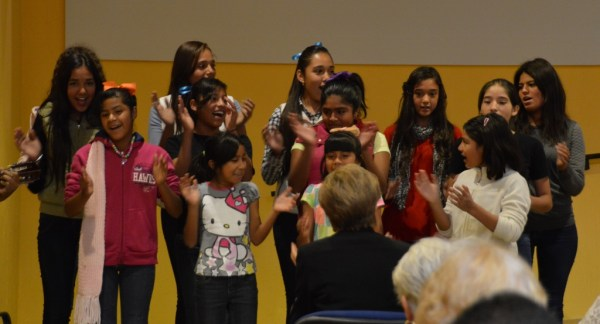 Our children's choir was VERY enthusiastic.
