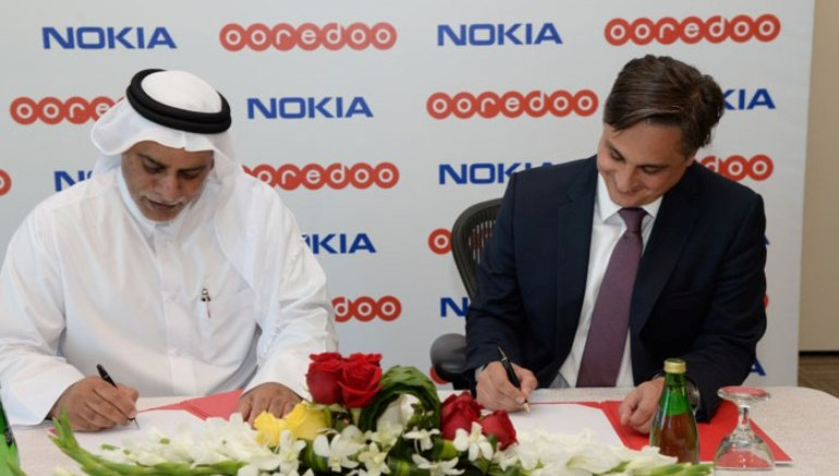 Yousuf-Abdulla-Al-Kubaisi-Chief-Operating-Officer-Ooredoo-Qatar-Bernard-Najm-Vice-President-and-Head-of-the-Middle-East-Market-Unit-Nokia