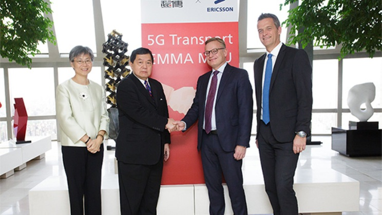 From left: FET President Yvonne Li, FET Chairperson Douglas Hsu, Ericsson President & CEO Jan Frykhammar, and Head of Ericsson Taiwan Håkan Cervell.