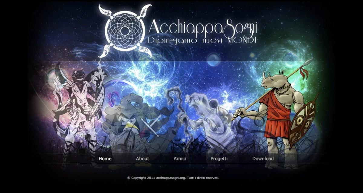 Apre AcchiappaSogni.org - il sito web dedicato al mio nuovo gruppo creativo!