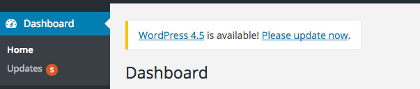 Se vi trovate di fronte a questo messaggio e non avete ancora seguito questa guida, NON aggiornate WordPress.