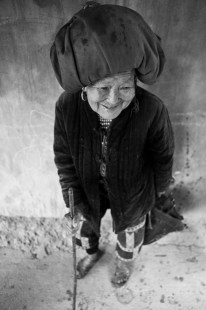An old H'Mong woman in a village near Sapa. Vietnam. 2007
