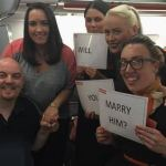Love is in the Air: Watch as easyJet passenger pops the question to unsuspecting girlfriend
