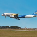 A third Embraer E190-E2 is in the air