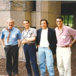 Princeton 1996, from the left: L. Pietronero, Francesco Sylos Labini, Paul Coleman, Marco Montuori