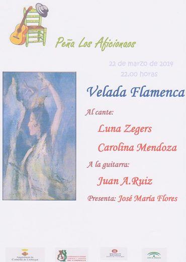 Luna sings @ Peña flamenca Los Aficionaos