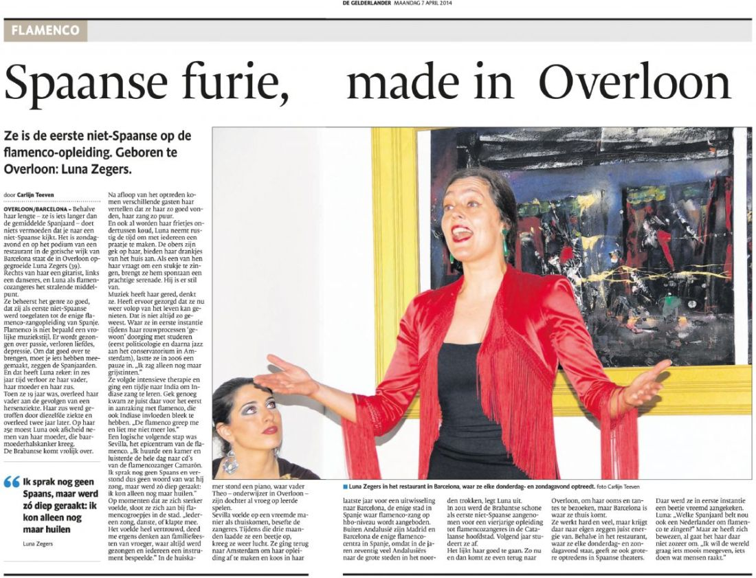 Luna @ dutch newspaper 7-4-2014