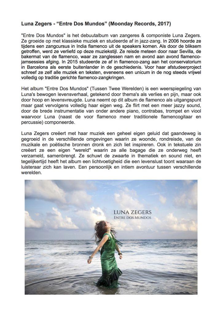Luna Zegers - Entre Dos Mundos (verhaal album) (2) -
