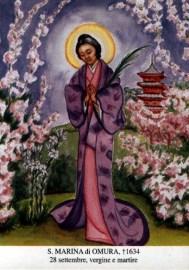 11 novembre - Santa Marina di Omura beatificata il 28 settembre