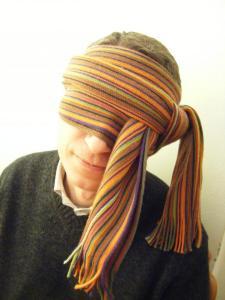 Giorgio Pozzi con sciarpa