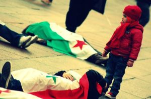 Manifestazioni in difesa dell'opposizione al regime di Assad