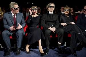 presidente tedesco, Wim Wenders e signora, Angela merkel per la prima di Pina