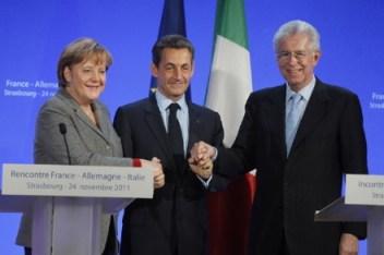 Menage a trois: Merkel, Sarkozy e Monti