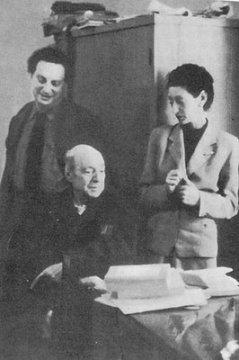 Carlo Levi, Umberto Saba e la moglie Lina