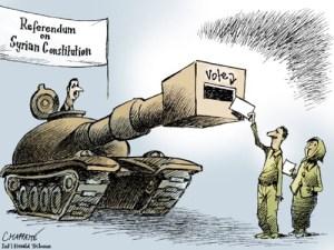 referendum in siria vignetta