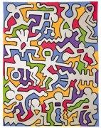 keith haring bambini colorati