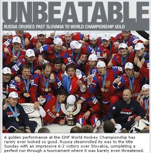 Russia hockey world champions