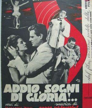 Addio sogni di Gloria canzone dal film
