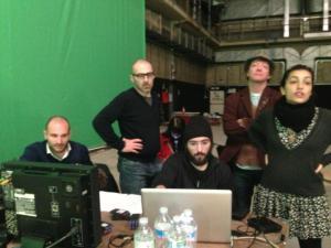 Andrea Casadio e il suo gruppo di lavoro.