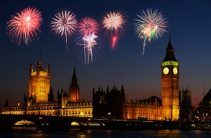 Westminster nella Bonfire night