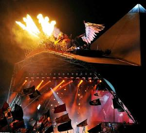 Fire and Phoenix in Glasto