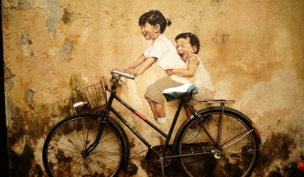 happy children bicycle