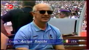 Arrigo Sacchi nel caldo di Pasadena. Italia-Brasile 0-0. Ma uno dei due doveva pur vincere.