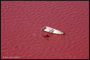 Il Lago Rosa, una delle attrazioni del Senegal.