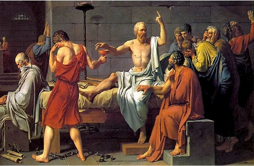 """Morte di Socrate"" di Jacques-Louis David"
