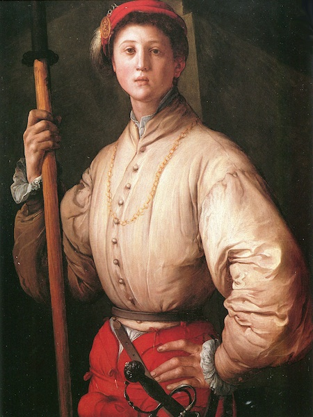 Pontormo: Ritratto di alabardiere Paul Getty Museum Malibu