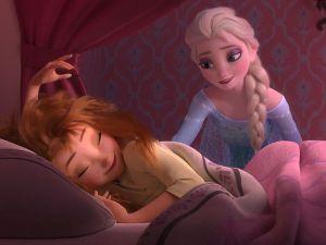 Tifo da stadio per Elsa e Anna di Frozen