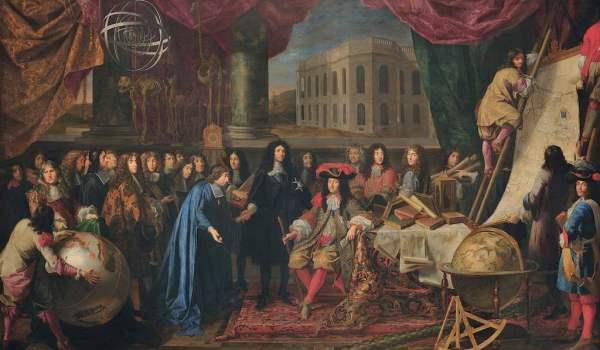 Henri Testelin, Luigi XIV e i membri dell'Accademia delle scienze