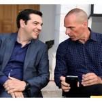 Alexis Tsipras e Yanis Varoufakis, primo ministro e ministro delle finanze dello Stato ellenico.