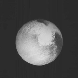 Plutone in avvicinamento. Una foto del 13 luglio.