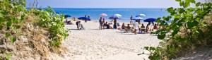 Uno scorcio della spiaggia libera di Lido Adriano (RA)