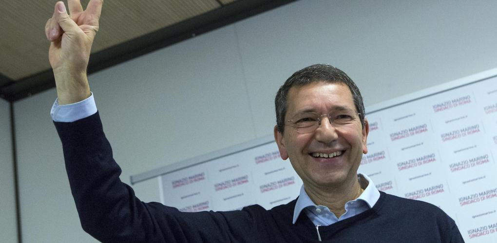 Elezioni Roma - Conferenza stampa di Ignazio Marino