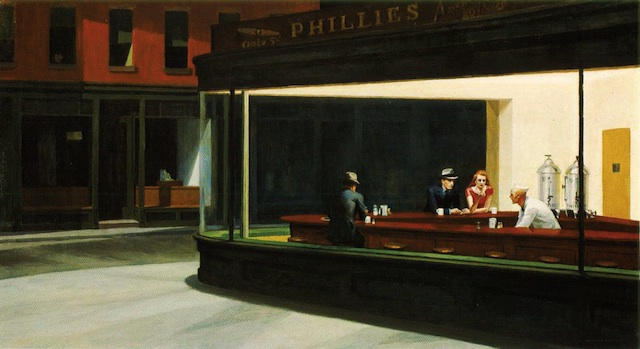 Nottambuli, Nighthawks, The Art Institute of Chicago