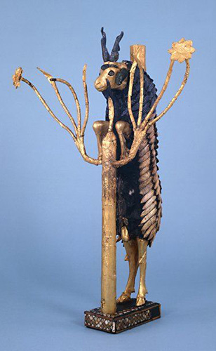 Arte sumera, Montone su un albero. British museum, Londra