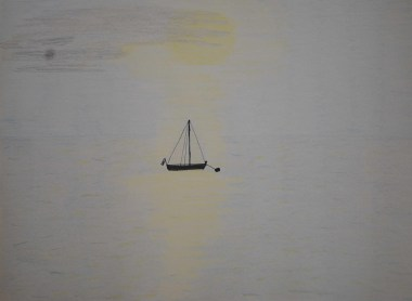 Sailboat in sunshine