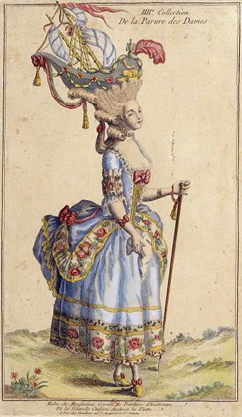 Pouf alla Belle Poule, stampa di moda