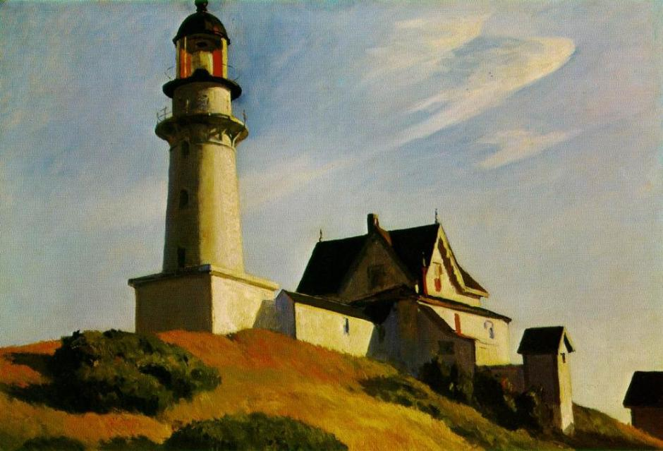 Edward Hopper - The lighthous at two lights 1927