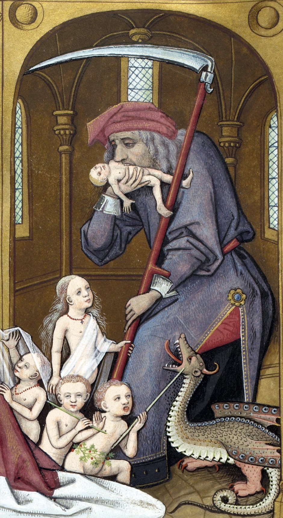 Evrart de Conty, Saturno divora i suoi figli, Biblioteca nazionale francese, Parigi