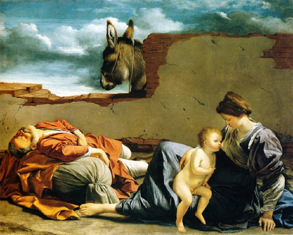 Orazio Gentileschi, Riposo dalla fuga in Egitto, Birmingham museum Alabama