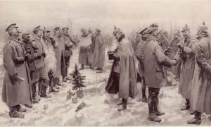 La Tregua di Natale 1914. Illustrazione del London News