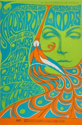 Locandina del Fillmore fine anni sessanta