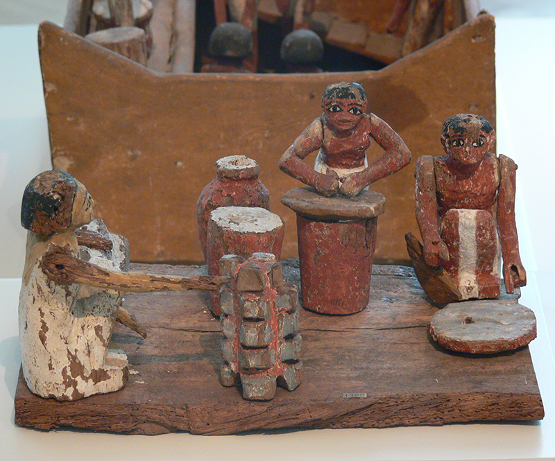 Modellino di cucina egizia