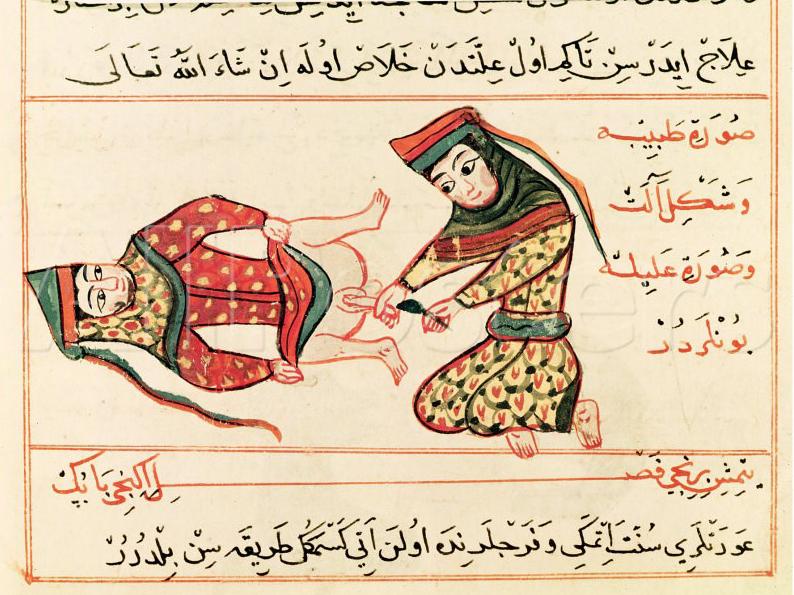 Scena di castrazione da una miniatura persiana